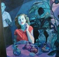 Living room painting by Katarzyna Saniewska titled Saska