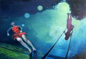 Obraz do salonu artysty Katarzyna Saniewska pod tytułem RAZ,DWA,TRZY...NIESKOŃCZONOŚĆ...