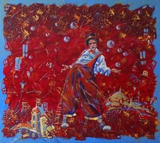Obraz do salonu artysty Aleksander Yasin pod tytułem Sen klauna