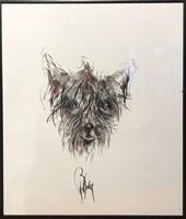 Obraz do salonu artysty Bożena Wahl pod tytułem Pies 2