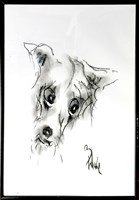 Obraz do salonu artysty Bożena Wahl pod tytułem Pies pastel 1