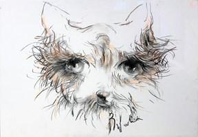 Obraz do salonu artysty Bożena Wahl pod tytułem Pies pastel 2