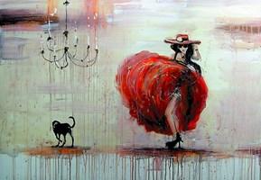 Obraz do salonu artysty Dariusz Grajek pod tytułem Dziewczyna z psem....