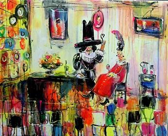 Obraz do salonu artysty Dariusz Grajek pod tytułem Kieliszek winka....
