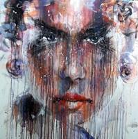 Obraz do salonu artysty Dariusz  Grajek pod tytułem Dziewczyna z kolczykami...