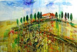 Obraz do salonu artysty Dariusz Grajek pod tytułem Niebo nad Toskanią.....