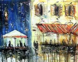 Obraz do salonu artysty Dariusz Grajek pod tytułem Kawiarenka...