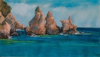 Living room painting by Agnieszka Korczak titled Rocks