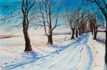 Obraz do salonu artysty Agnieszka Korczak pod tytułem Zima