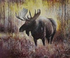 Living room painting by Konrad Hamada titled Moose