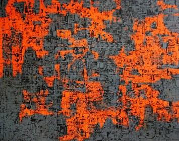 Obraz do salonu artysty Magdalena Karwowska pod tytułem Miasto 050