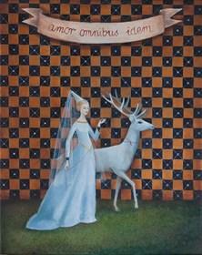 Obraz do salonu artysty Malwina de Brade pod tytułem Amor omnibus idem