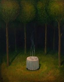 Obraz do salonu artysty Malwina de Brade pod tytułem Herbatka