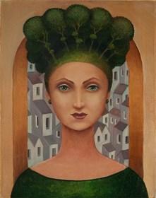 Obraz do salonu artysty Malwina de Brade pod tytułem Leśna panna