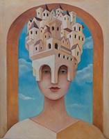 Obraz do salonu artysty Malwina de Brade pod tytułem Miastowa