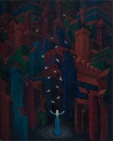 Obraz do salonu artysty Malwina de Brade pod tytułem Nocne ptaki