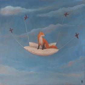 Obraz do salonu artysty Malwina de Brade pod tytułem Odlot