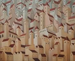 Obraz do salonu artysty Malwina de Brade pod tytułem Miasto