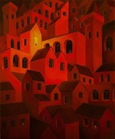 Obraz do salonu artysty Malwina de Brade pod tytułem Zachód słońca
