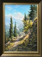 Obraz do salonu artysty Wiktor Juszkiewicz pod tytułem Spacer w górach