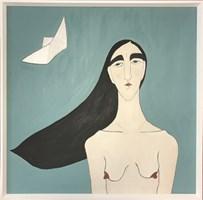Living room painting by Paulina Korbaczyńska titled Ships on the wind