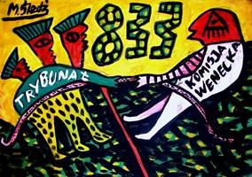 Obraz do salonu artysty Mirosław Śledź pod tytułem Untiled 003