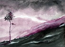 Obraz do salonu artysty Michał Czejgis pod tytułem Pejzaż z samotnym drzewem X