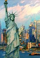 Obraz do salonu artysty Piotr Rembieliński pod tytułem Nowy Jork, Statua Wolności