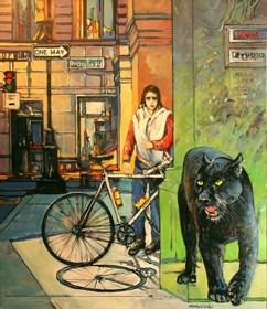 Obraz do salonu artysty Piotr Rembieliński pod tytułem Lower Manhattan graffiti, NYC