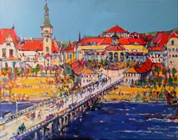 Living room painting by Piotr Rembieliński titled Sopot