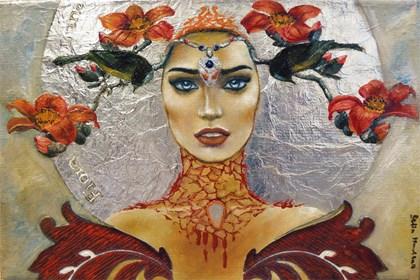 Obraz do salonu artysty Marlena Selin pod tytułem Luna Fiora