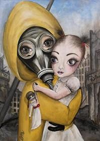 "Obraz do salonu artysty Estera Parysz-Mroczkowska pod tytułem ""Mother's love"""