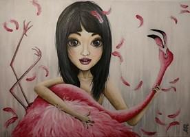 """Obraz do salonu artysty Estera Parysz-Mroczkowska pod tytułem """"Flaming was insured"""""""