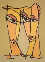 Obraz do salonu artysty Bohdan  Łoboda pod tytułem Pochylone ku sobie