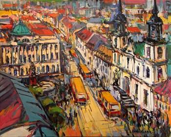 Obraz do salonu artysty Piotr Rembieliński pod tytułem Warszawa