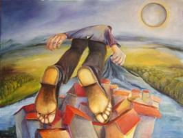 Obraz do salonu artysty Iwona Duda pod tytułem Latawiec