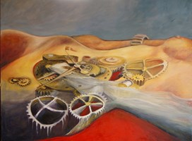 Obraz do salonu artysty Iwona Duda pod tytułem Zegar