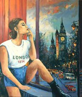Living room painting by Piotr Rembieliński titled London