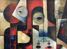 Obraz do salonu artysty Samvel Paremuzyan pod tytułem Jestem w trzecim wymiarze