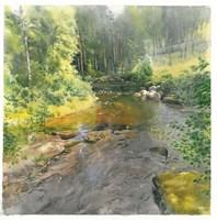 Obraz do salonu artysty Michał  Suffczyński pod tytułem Potok w Dalarna