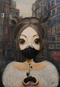 """Obraz do salonu artysty Estera Parysz-Mroczkowska pod tytułem """"Save your planet"""""""