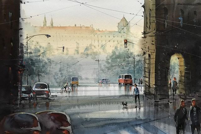 Obraz do salonu artysty Aleksander Yasin pod tytułem Praha