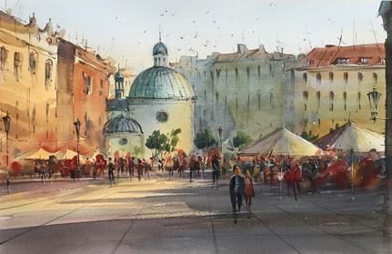 Obraz do salonu artysty Aleksander Yasin pod tytułem Rynek Główny