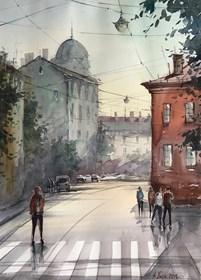 Obraz do salonu artysty Aleksander Yasin pod tytułem Miejski klimat