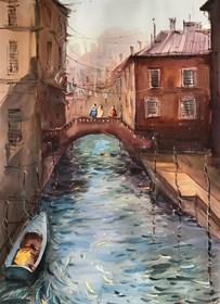 Obraz do salonu artysty Aleksander Yasin pod tytułem Wspomnienia po Wenecji