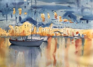 Obraz do salonu artysty Aleksander Yasin pod tytułem Śródziemnomorski wieczór