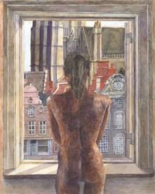Obraz do salonu artysty Hippolite Vogel pod tytułem Na rynku w Mehelen