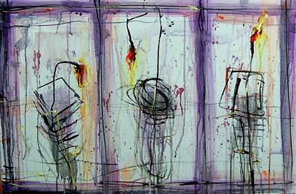 Obraz do salonu artysty Dariusz Grajek pod tytułem Tulipany