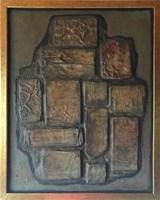 Obraz do salonu artysty Krystyn Zieliński pod tytułem Kompozycja reliefowa