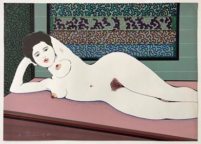 Obraz do salonu artysty Henryk Płóciennik pod tytułem Kobieta leżąca  na boku